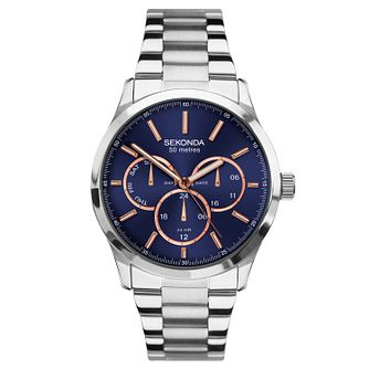 Sekonda Men's Multi-Function Stainless Steel Bracelet Watch - Product number 9734384