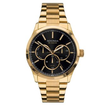 Sekonda Men's Multi-Function Gold Plated Bracelet Watch - Product number 9734406