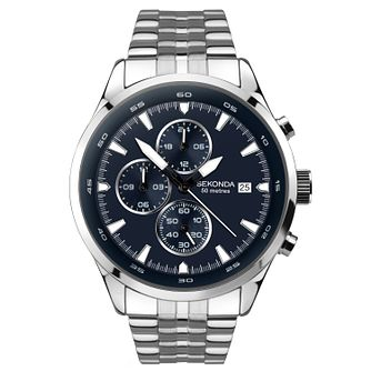 Sekonda Men's Dual-Time Stainless Steel Bracelet Watch - Product number 9734414