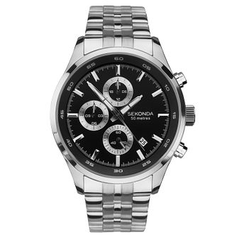 Sekonda Men's Dual-Time Stainless Steel Bracelet Watch - Product number 9734422