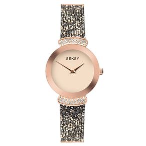 Seksy Rocks® Rose Gold Plated Bracelet Watch - Product number 9734449