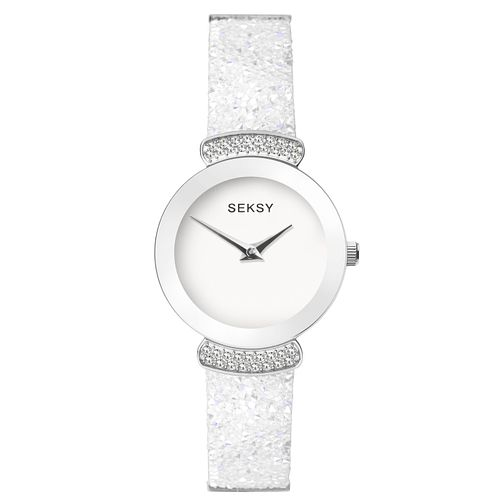 Seksy Rocks® Rhodium Plated Bracelet Watch - Product number 9734457