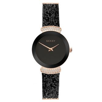 Seksy Rocks® Ladies' Rose Gold Tone Bracelet Watch - Product number 9734481