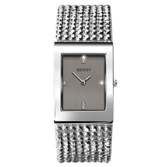 Seksy Shimmer Rhodium Plated Bracelet Watch - Product number 9734627