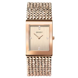 Seksy Shimmer Rose Gold Plated Bracelet Watch - Product number 9734635