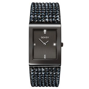 Seksy Shimmer Gun Metal Plated Bracelet Watch - Product number 9734643