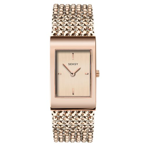 Seksy Shimmer Rose Gold Plated Bracelet Watch - Product number 9734651