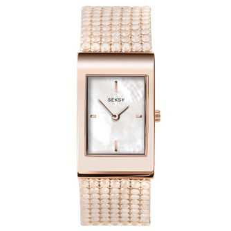 Seksy Shimmer Rose Gold Plated Bracelet Watch - Product number 9734678
