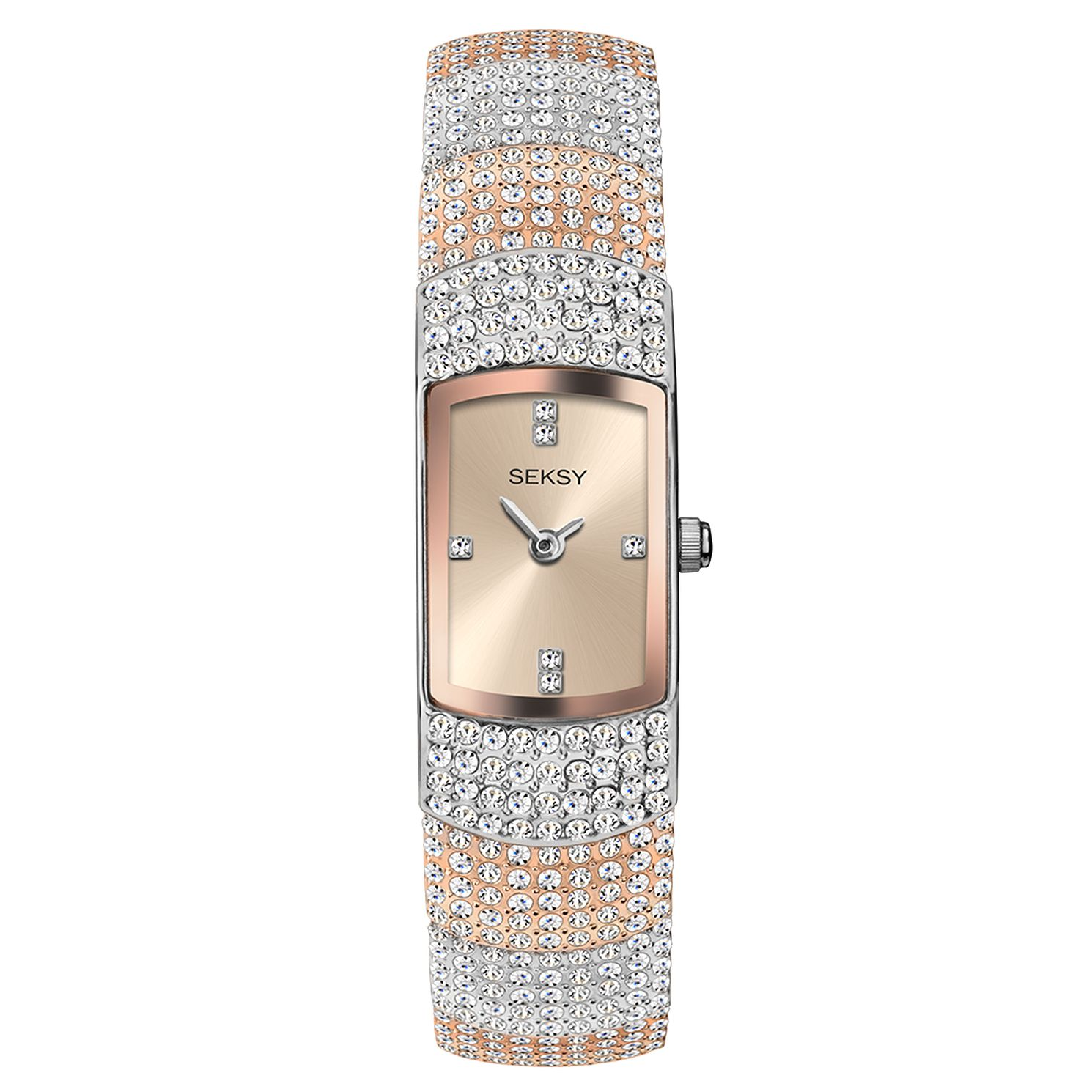 Seksy Two-Tone Rose Gold Plated Bracelet Watch - Product number 9734740