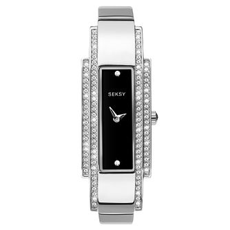 Seksy Stainless Steel Stone Set Bracelet Watch - Product number 9734767
