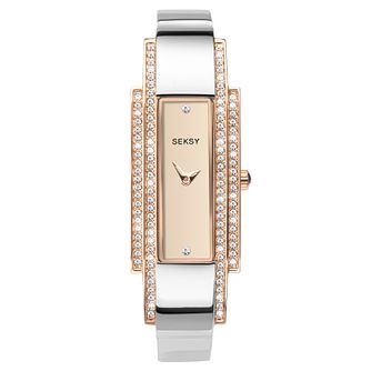 Seksy Two-Tone Rose Gold Plated Bracelet Watch - Product number 9734775