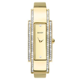 Seksy Two-Tone Gold Plated Bracelet Watch - Product number 9734783