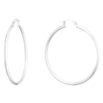 Silver 45mm Square Hoops - Product number 9735003