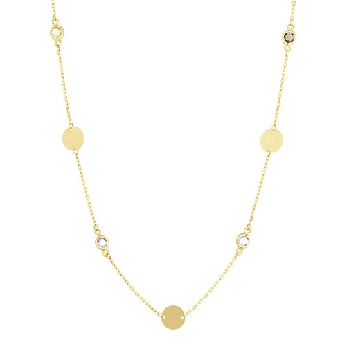 9ct Yellow Gold Multi Disc Necklace by H.Samuel
