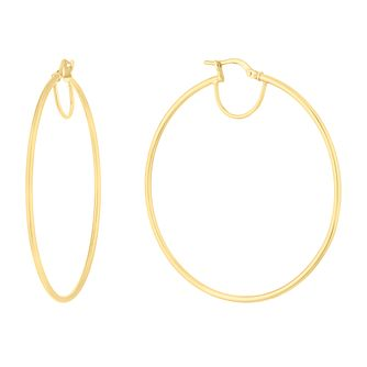 Silver & 9ct Yellow Gold Bonded Creoles Earrings - Product number 9738355