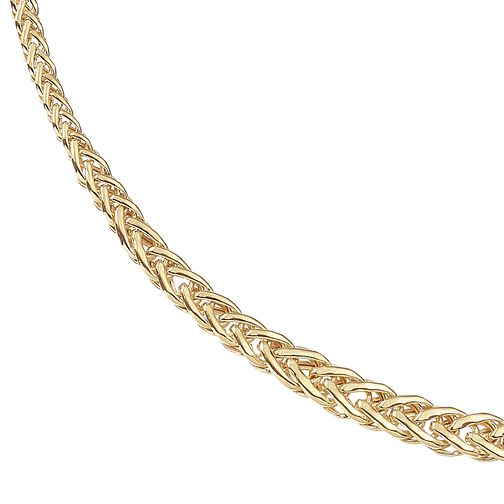 9ct Yellow Gold Flat Spiga Chain Necklace - Product number 9738479