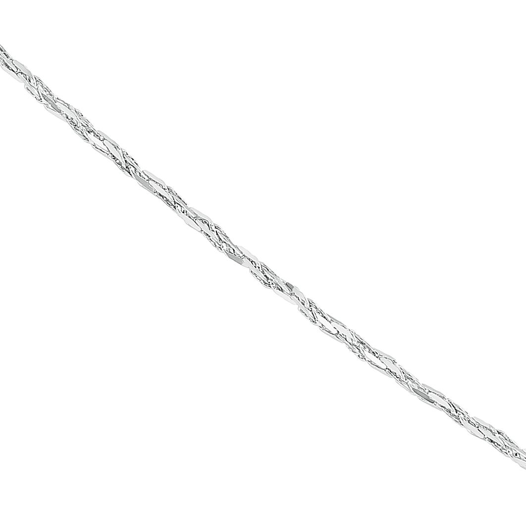9ct White Gold Sparkle Chain Necklace - Product number 9738525