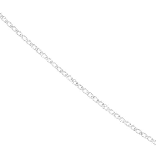 9ct White Gold Double Curb Chain - Product number 9738541