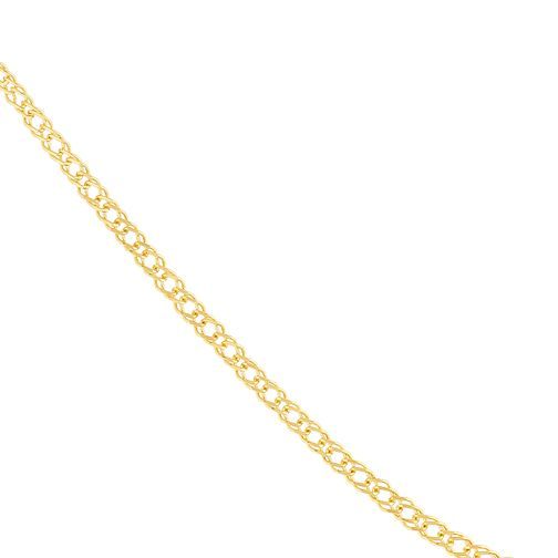 9ct Yellow Gold Double Curb Chain - Product number 9738584