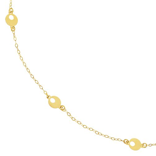 9ct Yellow Gold 3 Open Disc Choker - Product number 9738592