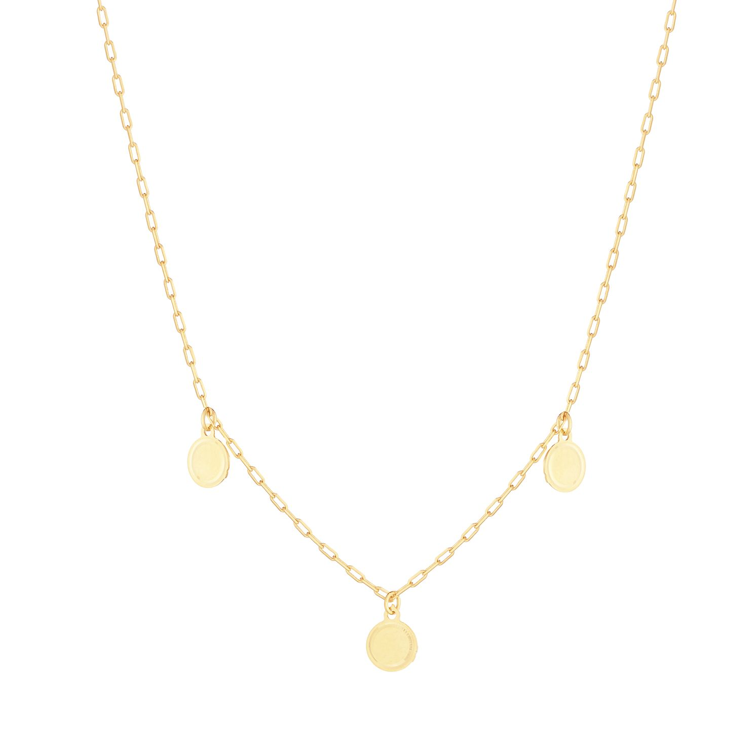 9ct Yellow Gold Disc Drop Necklace - Product number 9738630
