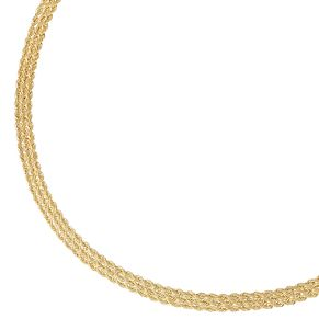 9ct Yellow Gold Triple Rope Necklace - Product number 9739556