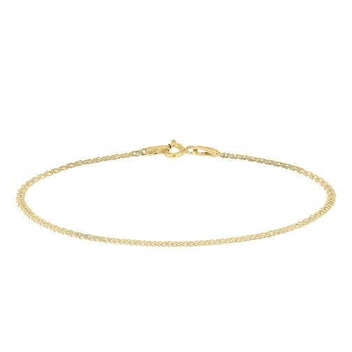 9ct Yellow Gold Double Curb Chain Bracelet - Product number 9739653