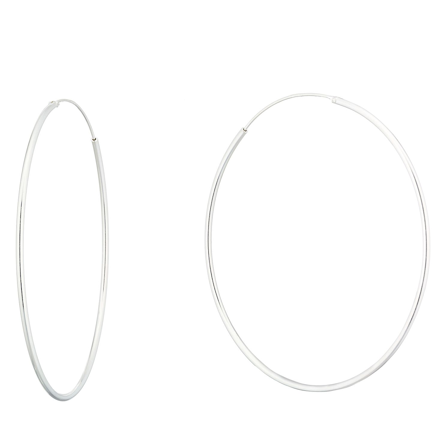 Sterling Silver 58mm Sleeper Earrings - Product number 9741615