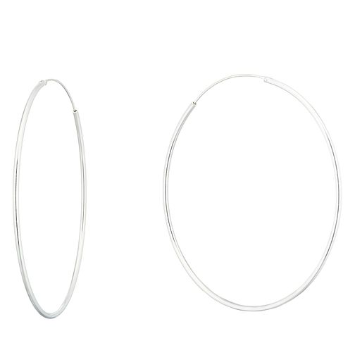 Silver 58mm Hoop Earrings - Product number 9741615