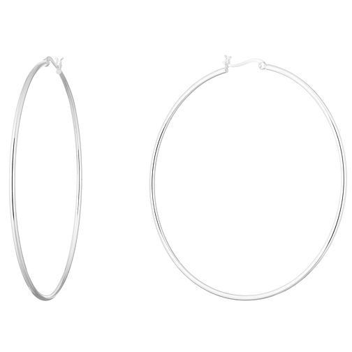 Silver 80mm Hoops - Product number 9741631