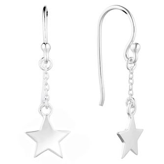 Silver Star Drop Earrings - Product number 9742212