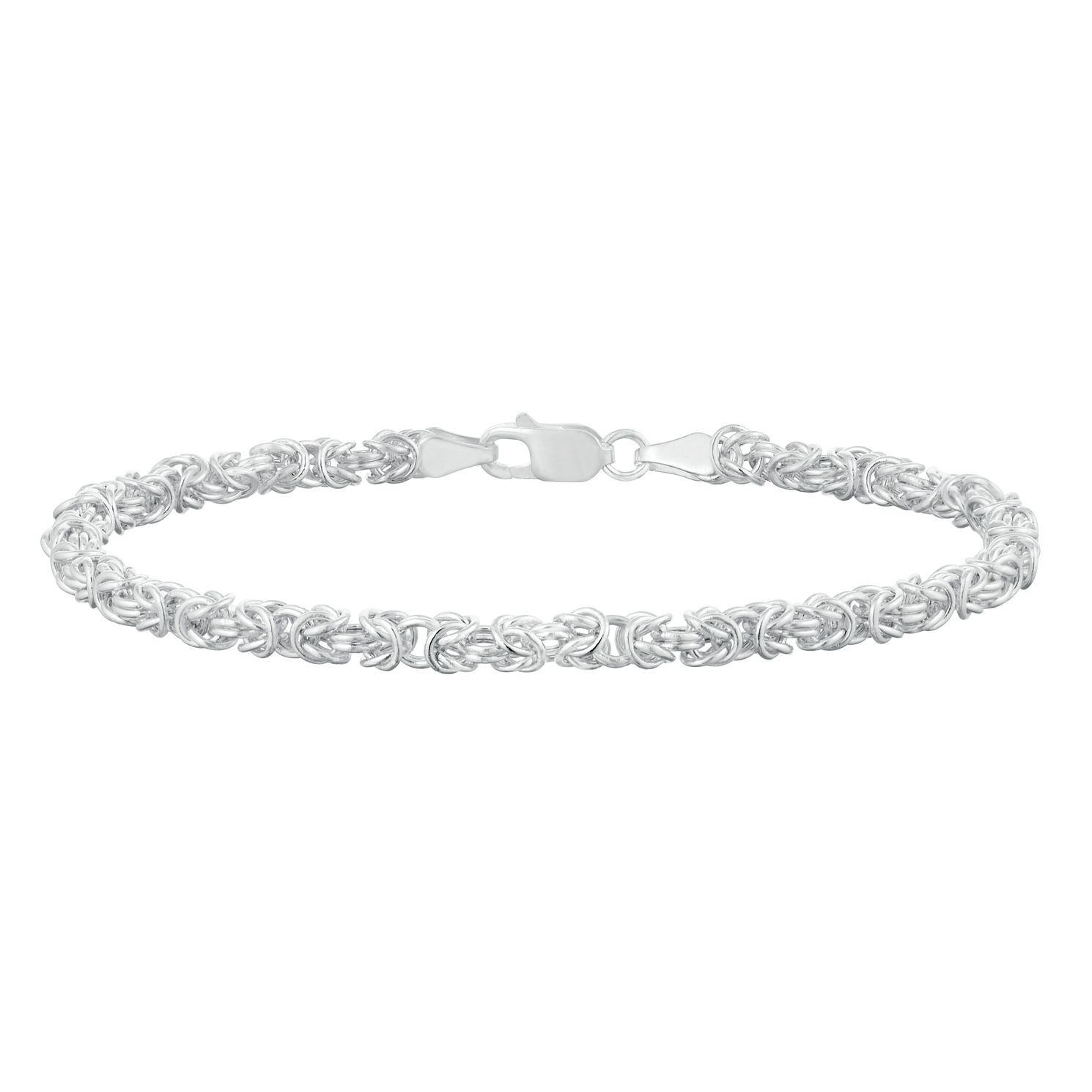 Sterling Silver Round Byzantine Bracelet - Product number 9742859