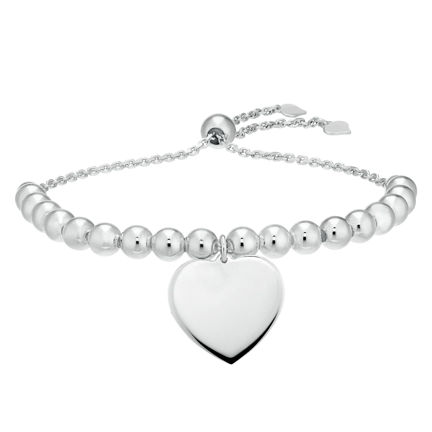 Silver Heart Beaded Bracelet - Product number 9742867