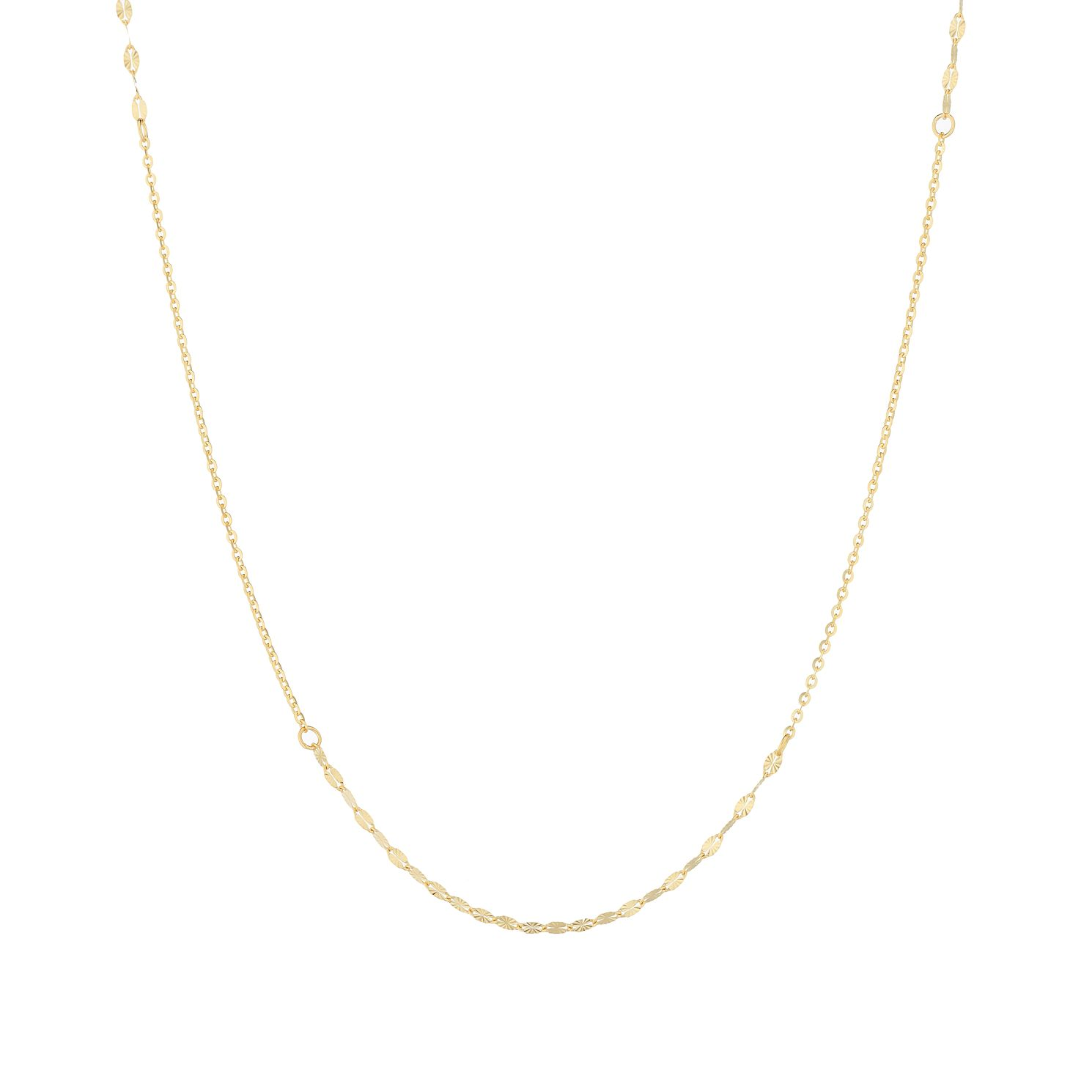 9ct Yellow Gold Fancy Disc Chain Necklace - Product number 9743030