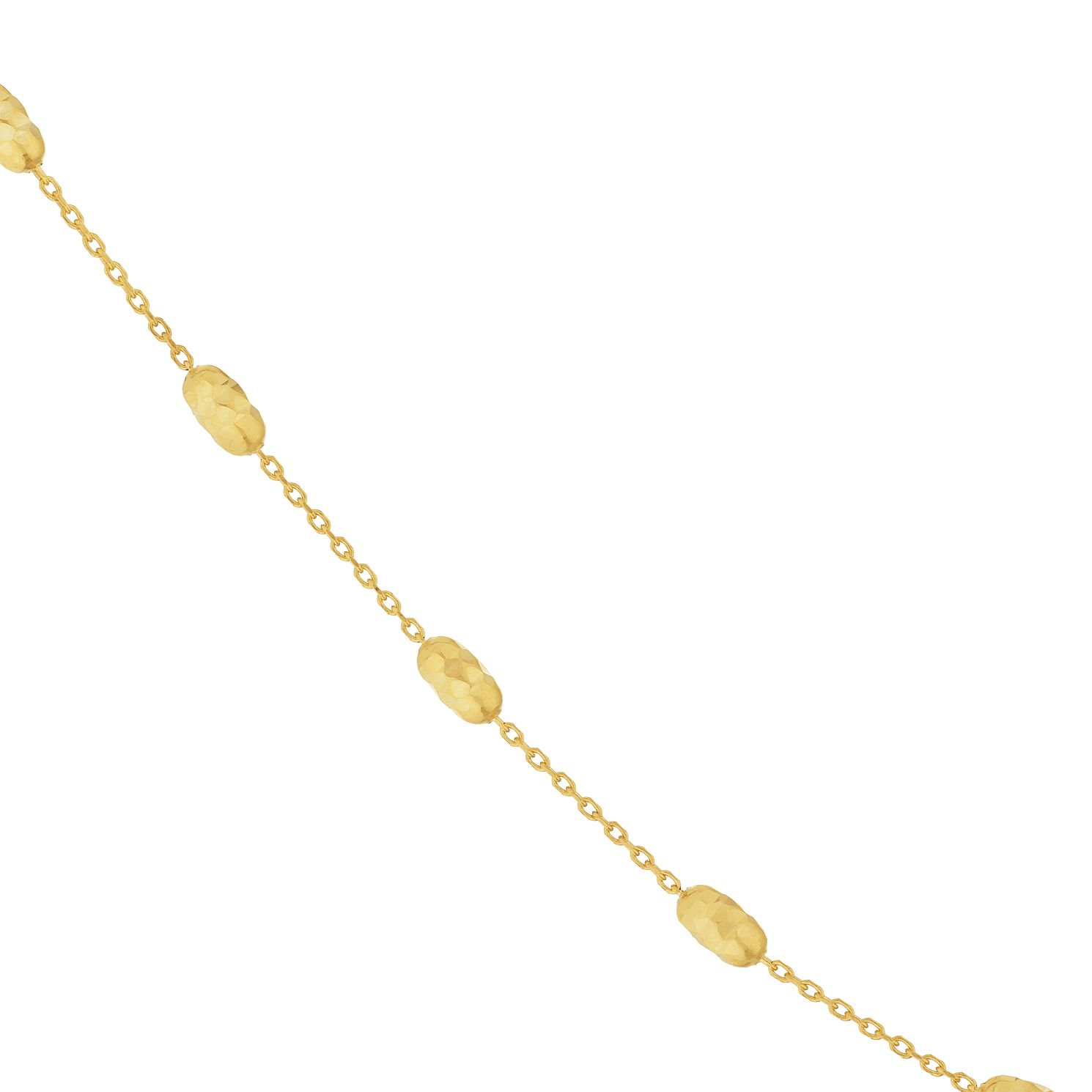 9ct Yellow Gold Beaded Chain Necklace - Product number 9743057