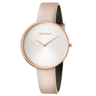 Calvin Klein Full Moon Ladies' Nude Leather Strap - Product number 9743901