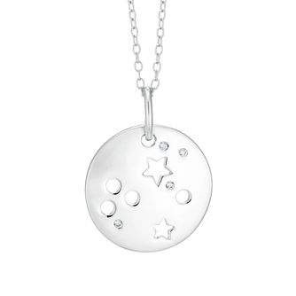 Silver Aquarius Constellation Pendant - Product number 9744347