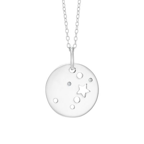 Silver Gemini Constellation Pendant - Product number 9744525