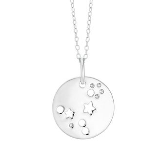 Silver Pisces Constellation Pendant - Product number 9744576