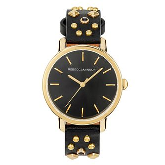 Rebecca Minkoff Bffl Ladies' Studded Leather Strap Watch - Product number 9744908