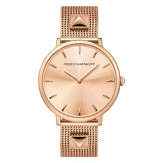 Rebecca Minkoff Major Ladies' Rose Gold Tone Bracelet Watch - Product number 9745394