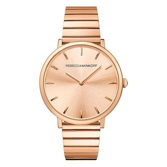Rebecca Minkoff Major Ladies' Rose Gold Tone Bracelet Watch - Product number 9745564