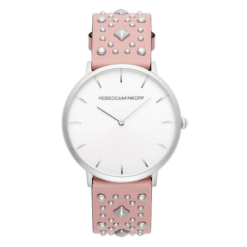 Rebecca Minkoff Major Ladies' Pink Studded Strap Watch - Product number 9745963