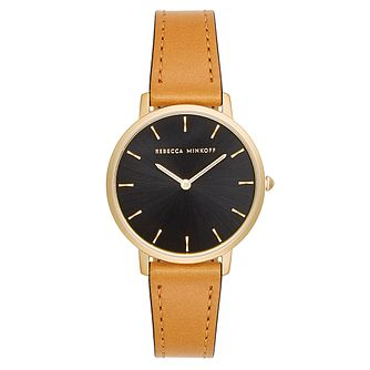 Rebecca Minkoff Major Ladies' Tan Leather Strap Watch - Product number 9746005