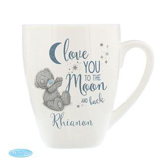 Personalised Me To You Moon And Back Ceramic Latte Mug - Product number 9746242