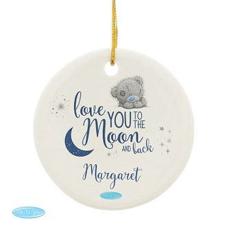Personalised Me To You Moon And Back Round Ornament - Product number 9746285