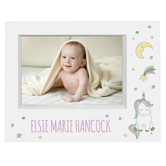 Personalised Baby Unicorn 7x5 Box Photo Frame - Product number 9746404
