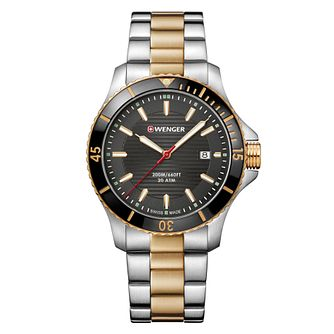 Wenger Seaforce Men's Quartz Two Tone Bracelet Watch - Product number 9746463