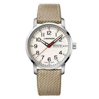 Wenger Attitude Heritage Cream Dial Nylon Strap Watch - Product number 9746498