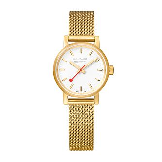 Mondaine SBB evo2 Ladies' IP Mesh Bracelet Watch - Product number 9746560